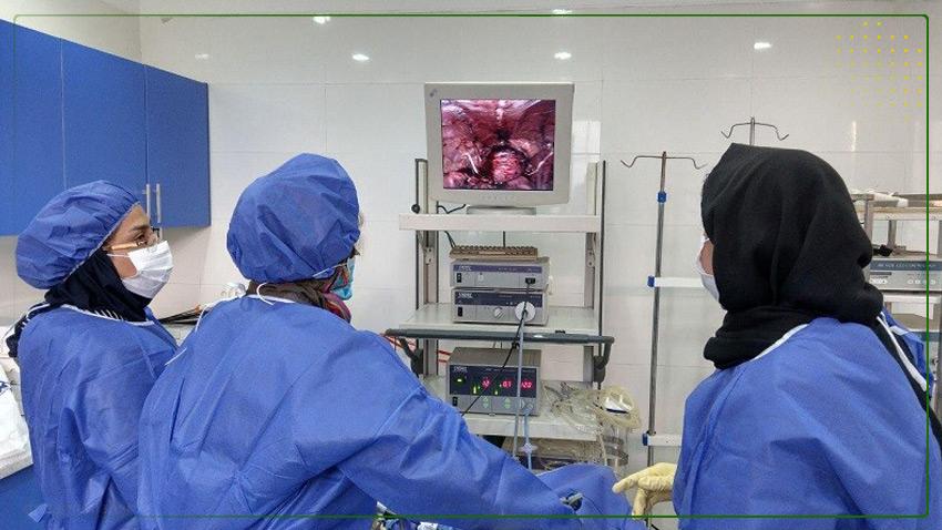 کارگاه آموزشی جراحی لاپاراسکوپی پیشرفته در اتاق عمل بیمارستان سینا